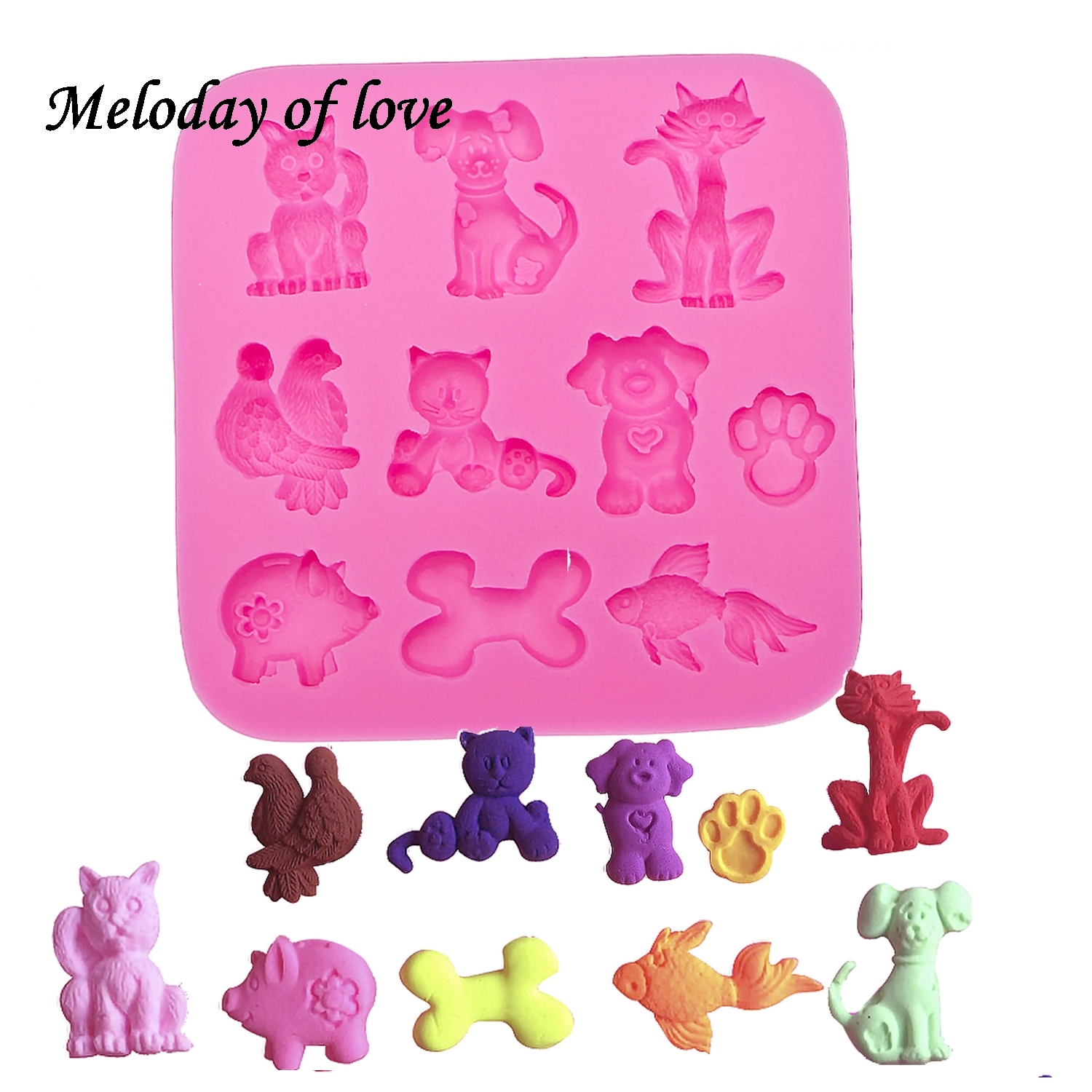 Cooperative 3d Animal Pig Dog Bones Goldfish Chocolate Cake Decorating Tools Diy Baking Fondant Silicone Mold Clay Resin Sugar Candy T0031 Clay Extruders Pottery & Ceramics