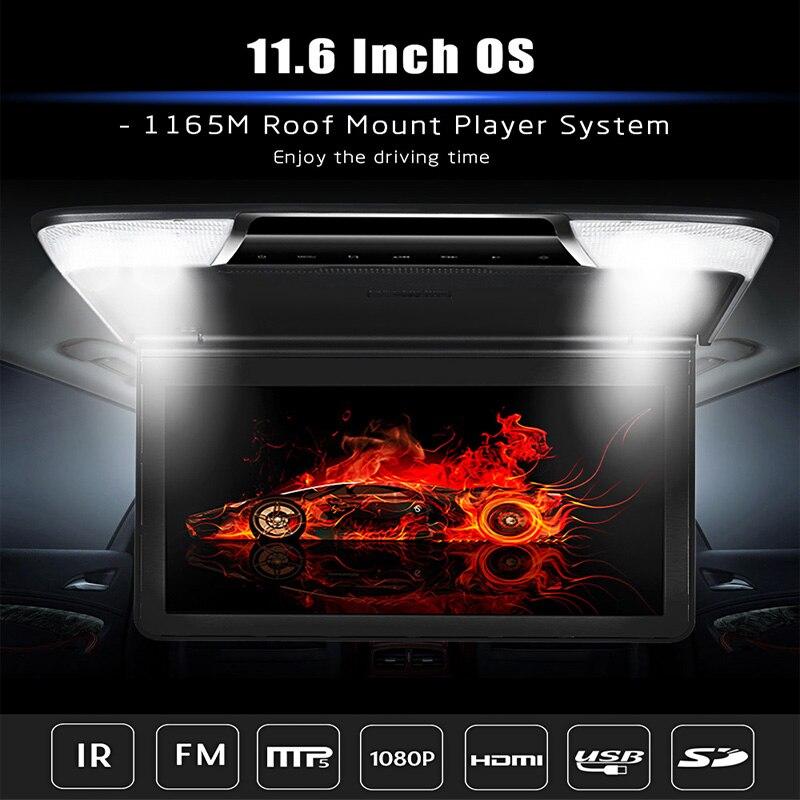 Zeepin 11.6 дюймов OS-1165 м потолочный плеер Системы 1920*1080 P HD TFT Экран MP5 плеер ...