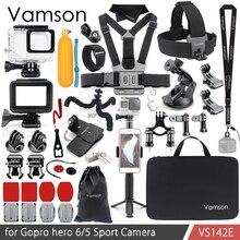 Vamson для Gopro Hero 7 6 5, комплект аксессуаров, водонепроницаемый чехол-рамка, плавающий поплавок, монопод для камеры Go pro Hero 6 5 VS142