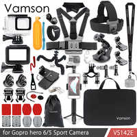 Vamson dla Gopro Hero 7 6 5 zestaw akcesoriów wodoodporna obudowa Case rama Floaty monopod niezatapialny dla Go pro Hero 6 5 kamera VS142
