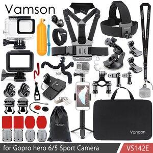 Image 1 - Vamson for Gopro Hero 7 6 5 Accessories Kit Waterproof Housing Case Frame Floaty Bobber Monopod for Go pro Hero 6 5 Camera VS142
