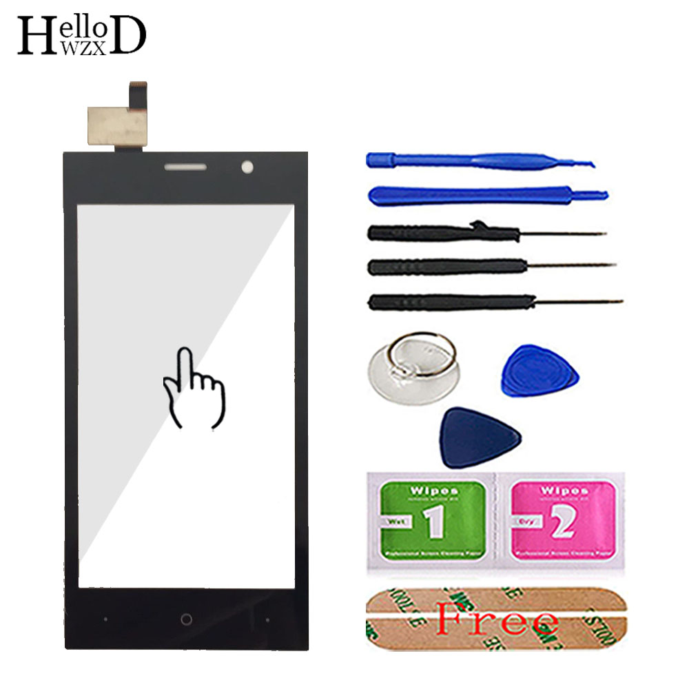 4.5'' Mobile Phone Touch Glass For DEXP Ixion M245 DEXP M245 Touch Screen Glass Digitizer Panel Lens Sensor Tools Free Adhesive