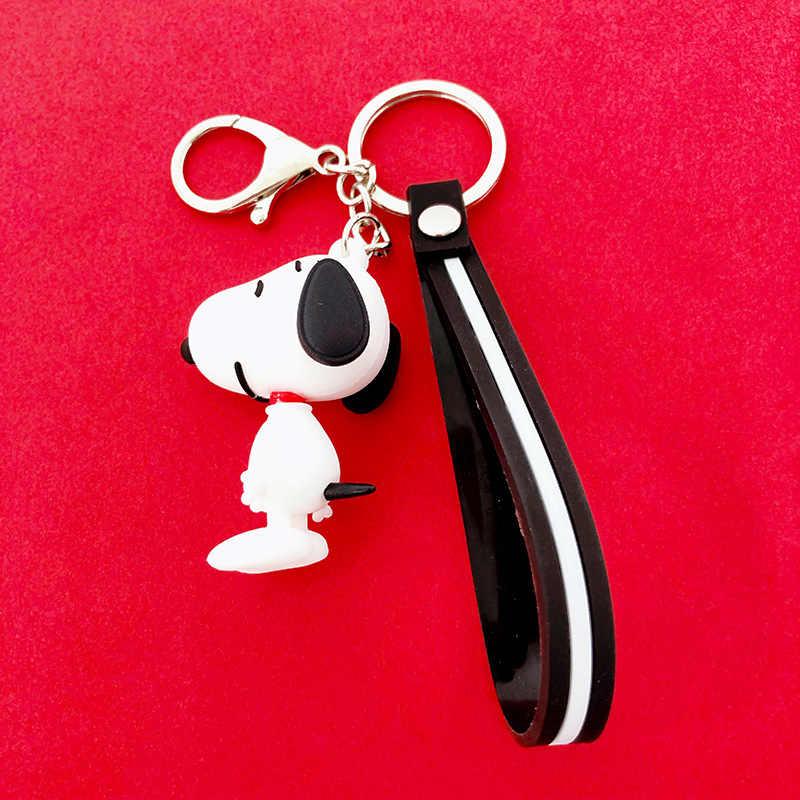 Anime mới Móc Khóa Charlie Nâu Snoopy Nhân Vật búp bê Móc Khóa Dành Cho nam Và nữ túi Silicone búp bê xe Móc Khóa