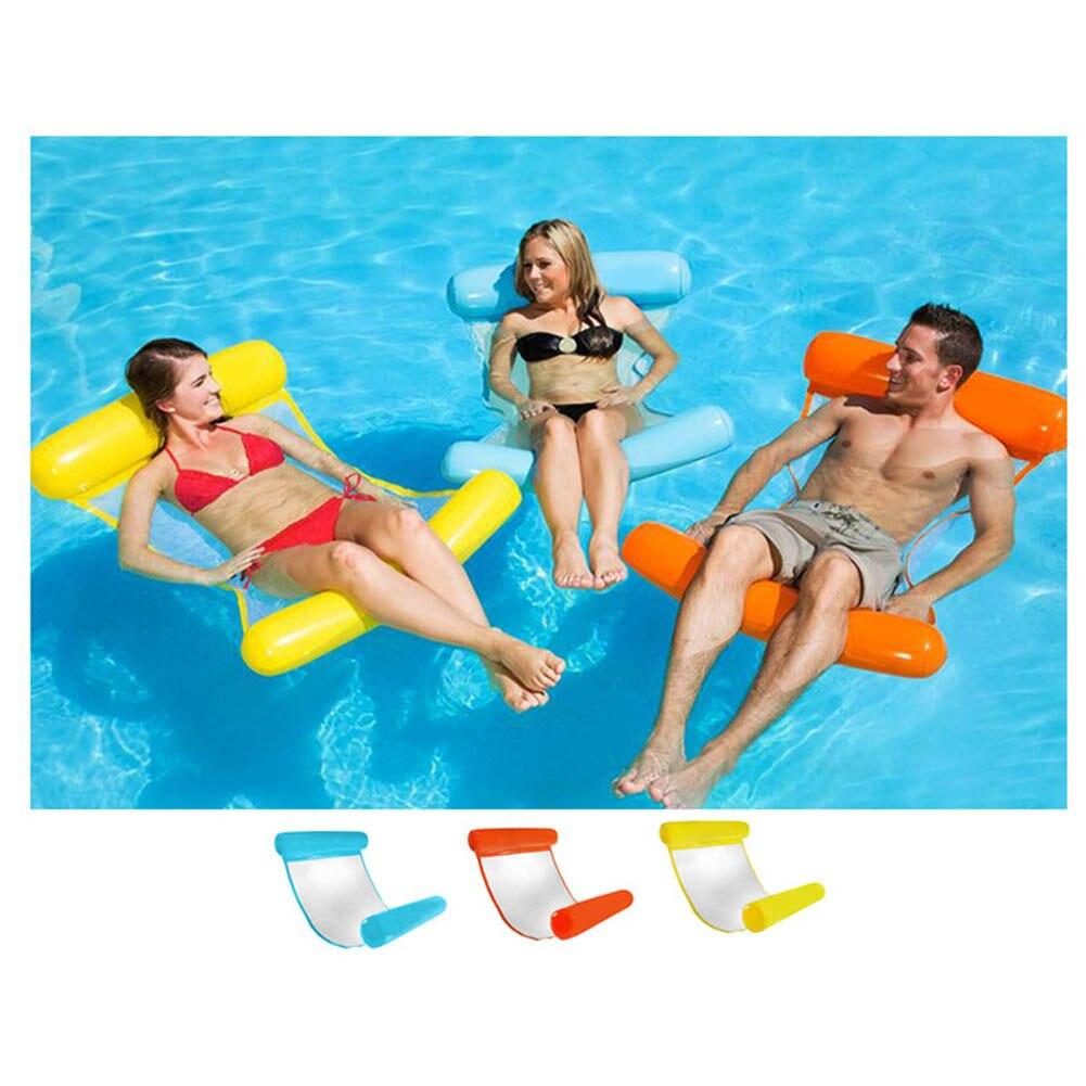 כיסא צף לבריכה ערסל למים לישיבה מפנקת במים שלוה צבעים צהוב כחול כתום