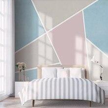 цена Geometric color block stitching TV sofa background wall professional production mural wallpaper wholesale custom photo wall