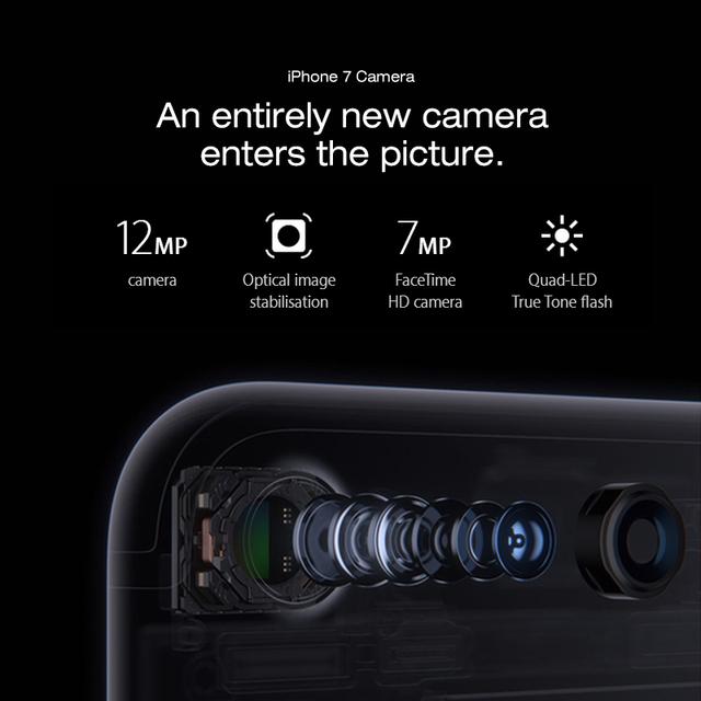 Original Apple iPhone 7 Mobile Phone 2GB RAM 32/128GB/256GB ROM Quad-Core 12.0MP Fingerprint touch ID Used Smartphone