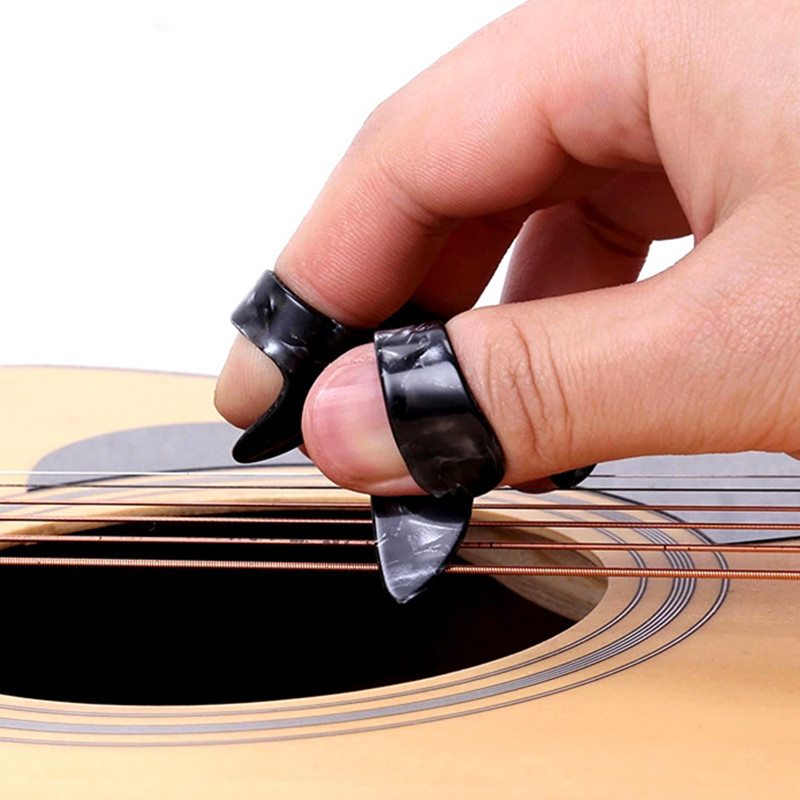12 piece Thumb Finger Guitar Pick Celluloid Mediator Thumbpick for Acoustic Electric Guitarra Thickness 1.2mm