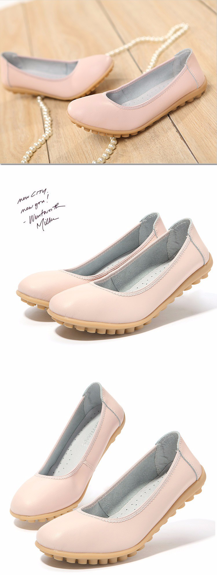 New 2016 Women Leather Shoes Slip-on Ballet Women Flat Comfort Shoes Woman Chaussure Homme Women Loafers BT94 (1)
