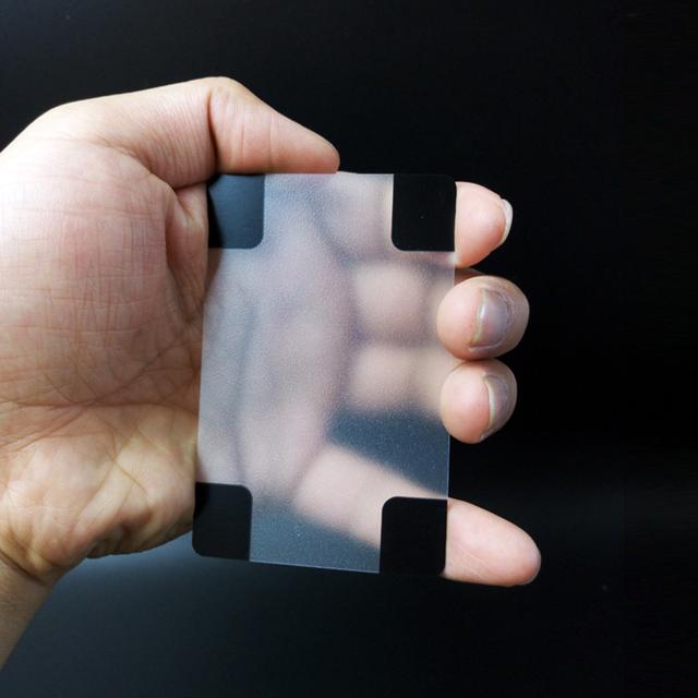 Transparent Waterproof PVC Poker Playing Cards