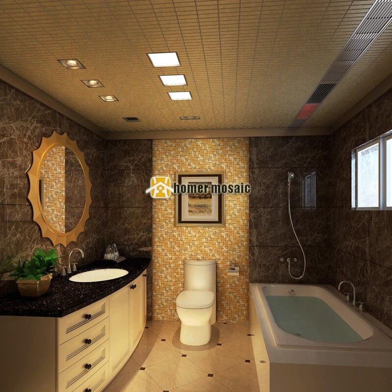 Gold Gelb Kristallglas Gemischt Edelstahl Mosaik Fliesen HMGM2085A Für  Küche Backsplash Badezimmer Dusche Flur Wand In Gold Gelb Kristallglas  Gemischt ...