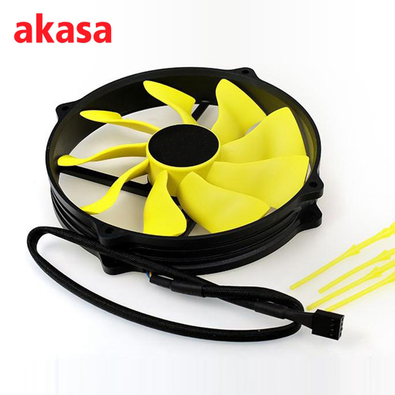 Akasa Ultra Quiet 145mm 4 Pin PWM Viper S-FLOW PC CPU Cooling Fan Heat Sink Hydro Dynamic Bearing Computer Cooler Fans personal computer graphics cards fan cooler replacements fit for pc graphics cards cooling fan 12v 0 1a graphic fan