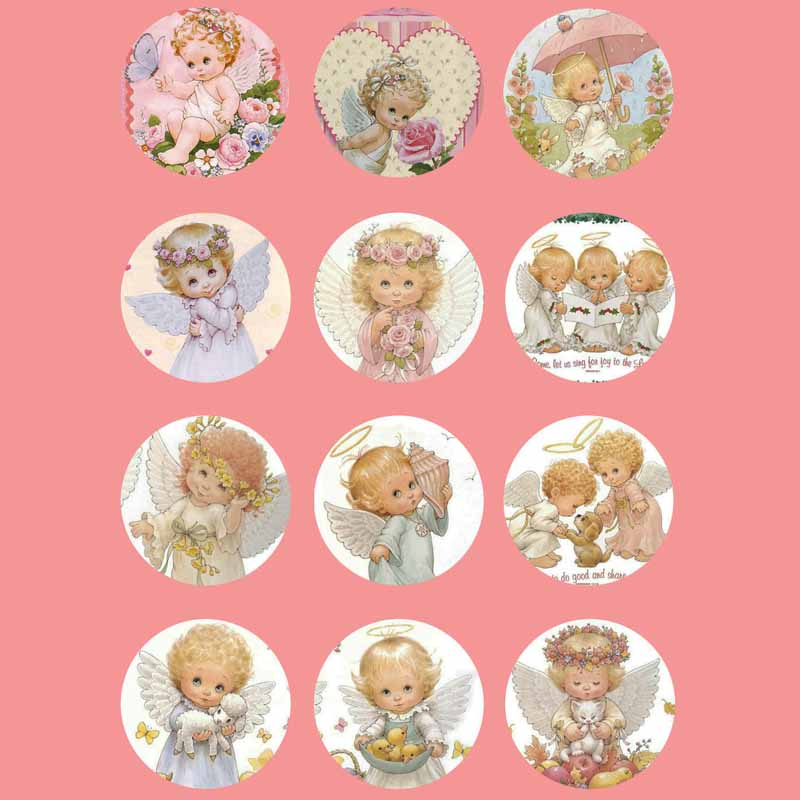 wholesale 345 12pcs/lot baby angel mix round glass cabochons DIY jewelry findings fit 18mm snap button charm bracelet women gift wholesale boom life 2017 new bookmarks snap button jewelry fit 18mm 20mm snaps 7273
