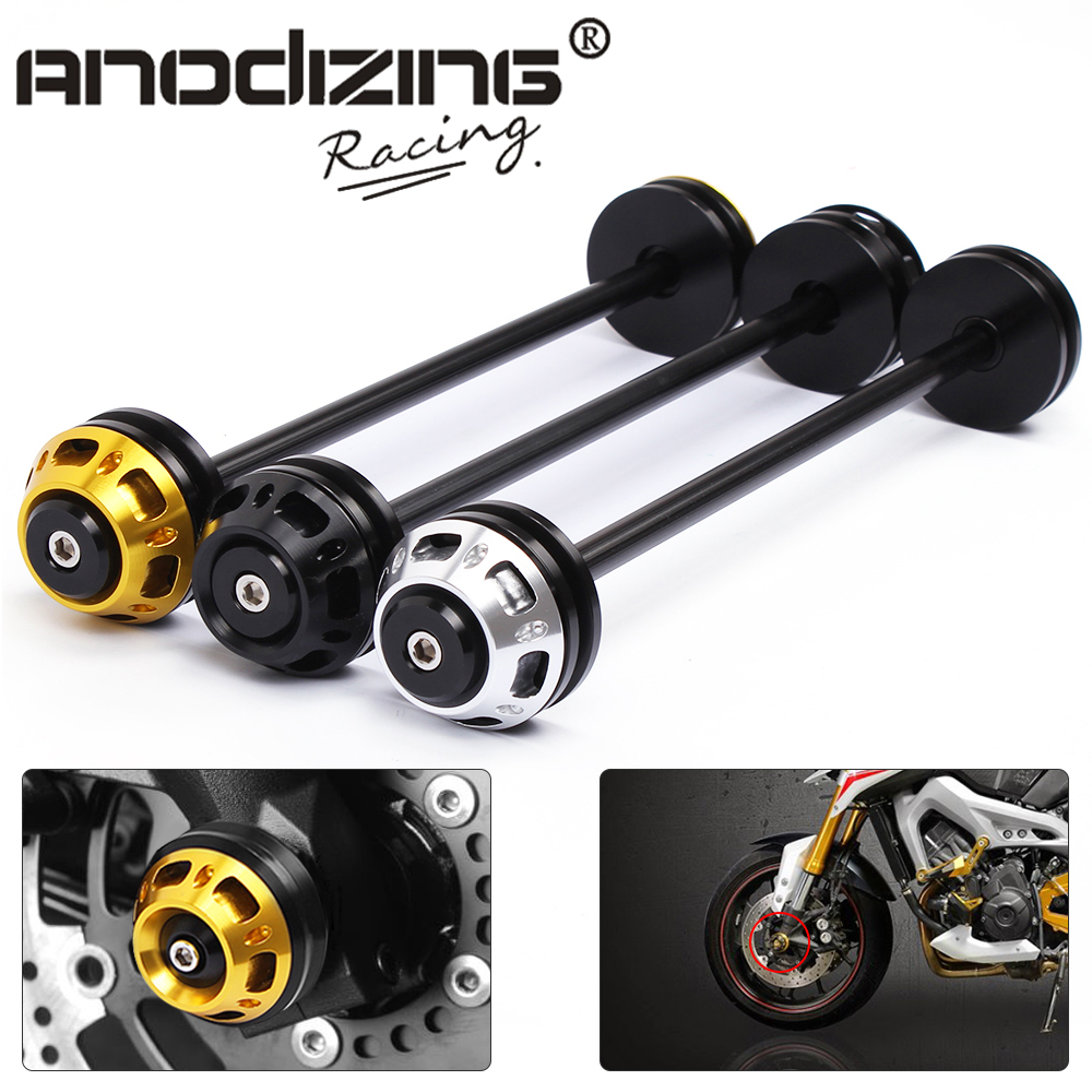 Motorcycle CNC Front Axle Slider Frame Sliders Crash Protector For Kawasaki Z800 2013-2015 Z1000 2011-2015