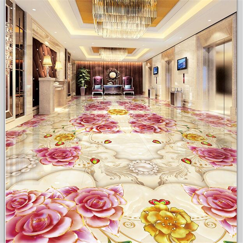 beibehang Custom floor decoration painting 3D marble tile parquet relief 3D self-adhesive flooring three-dimensional painting free shipping marble texture parquet flooring 3d floor home decoration self adhesive mural baby room bedroom wallpaper mural