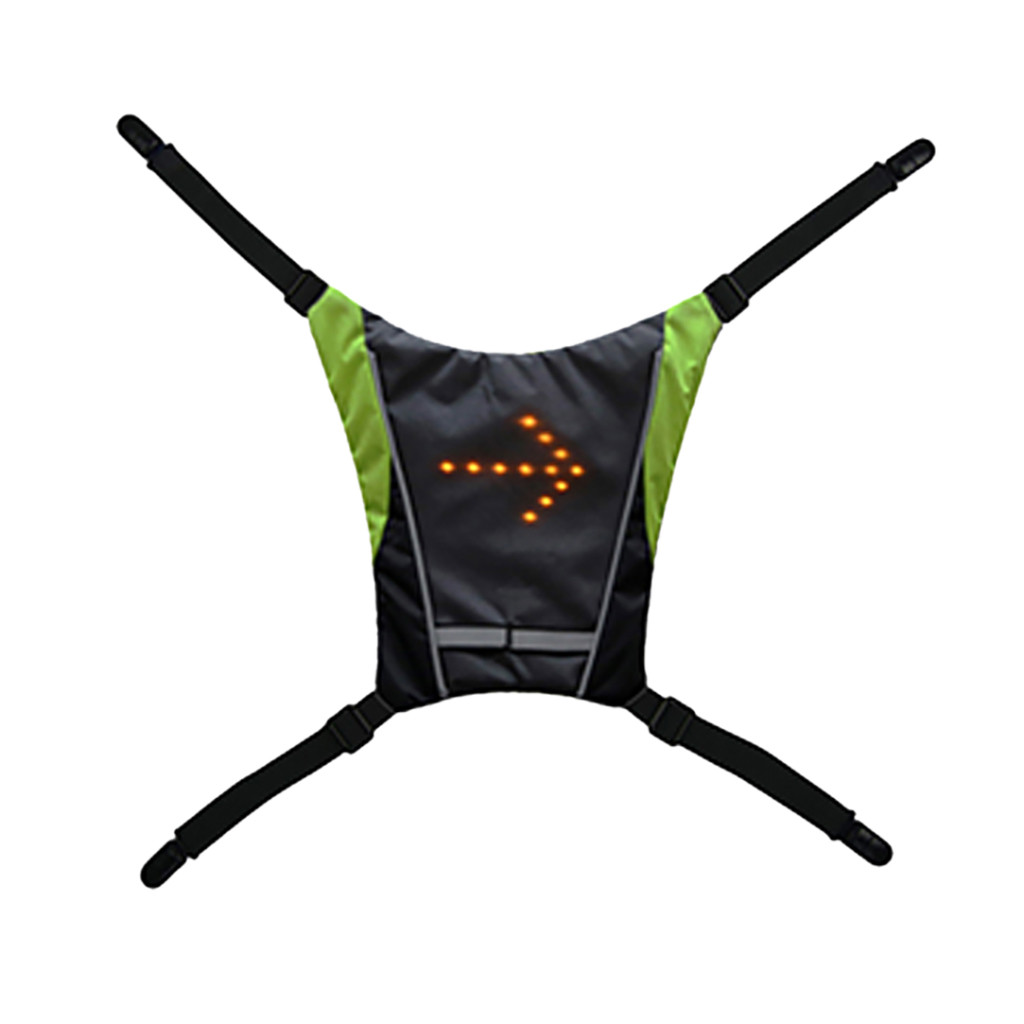 Brave Reflective Safety Vest With Led Signals Reflective Safety Vest With Led Signals Cycling