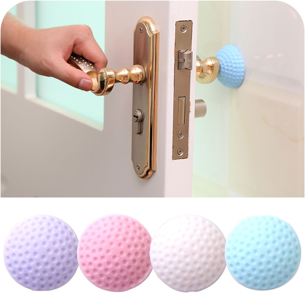 3Pcs Self Adhesive Door Handle Bumper Guard Stoppers Wall Protector Round Rubber Pad Doorknob Crash Pad Corner Guards
