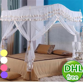 Dhl Free Bedroom Folding Royal Bed Canopy Netting Curtains With
