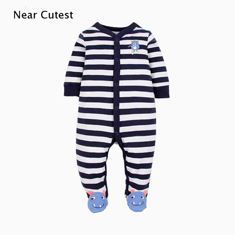 Near Cutest Newborn Baby Romper Long Sleeve Cotton Animal Baby Boy Girl Clothes Infant Jumpsuit Roupas De Bebe Infantil