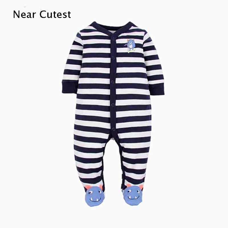 Near Cutest Newborn Baby   Romper   Long Sleeve Cotton Animal Baby Boy Girl Clothes Infant Jumpsuit Roupas De Bebe Infantil
