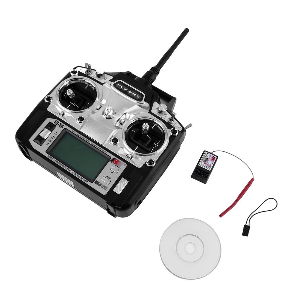 Flysky FS-T6 Radio Control 2.4G 6 Channel Transmitter+Receiver for RC Helicopter DR0404 niorfnio portable 0 6w fm transmitter mp3 broadcast radio transmitter for car meeting tour guide y4409b