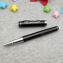 Unique birthday party gift nice roller pen with silver clip personalized free your name on the body 6-12letters is ok