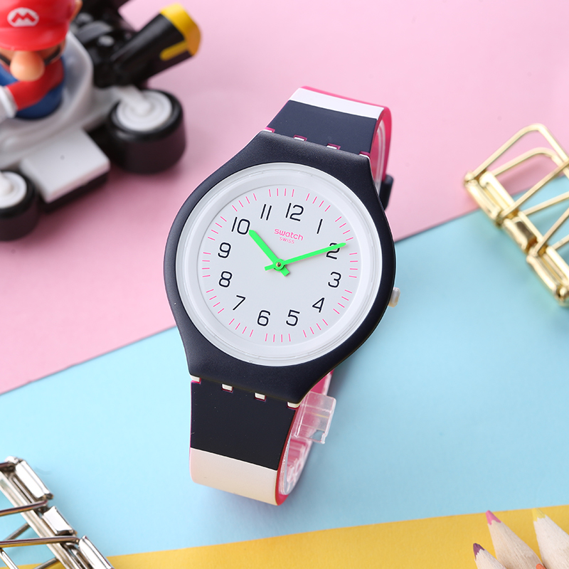 лучшая цена Swatch watch SKIN series fashion trend quartz male and female table SVUN105