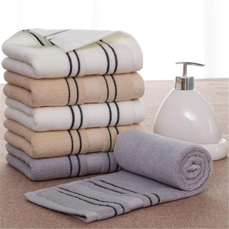 Ospitale Pulito Hearting 34x75 Cm 100% Asciugamani In Cotone Assorbente Di Colore Solido Morbida E Confortevole Delle Donne Degli Uomini Di Bagno A Mano Viaggio Viso Asciugamano Capelli