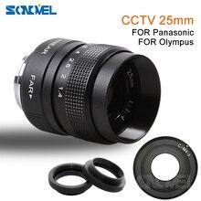 25 มม.กล้องวงจรปิดทีวีภาพยนตร์ F1.4 Lens + C Mount สำหรับ Olympus Micro 4/3 M4/3 EP1 EP2 EP3 EP5 EPL1 EPL2 EPL3 EPL5 EPM1 OM D EM5 EM10
