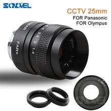25mm CCTV TV Movie F1.4 lens+C Mount for Olympus  Micro 4/3 m4/3 EP1 EP2 EP3 EP5 EPL1 EPL2 EPL3 EPL5 EPM1 OM D EM5 EM10
