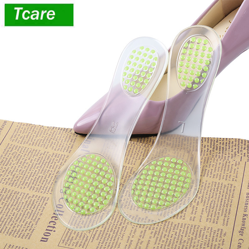 1Pair Foot Care Massage Silicone Insoles Plantar Fasciitis Shoe Inserts for Foot Massage Soft gel Arch support Orthopedic foot