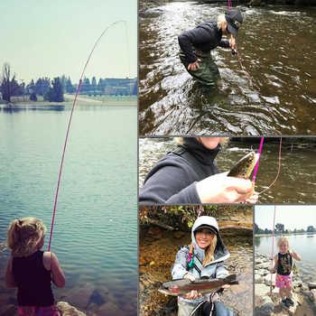 Maximumcatch 2wt/5wt Women Pink Fly Fishing Rod Medium-Fast with Cordura Rod Tube