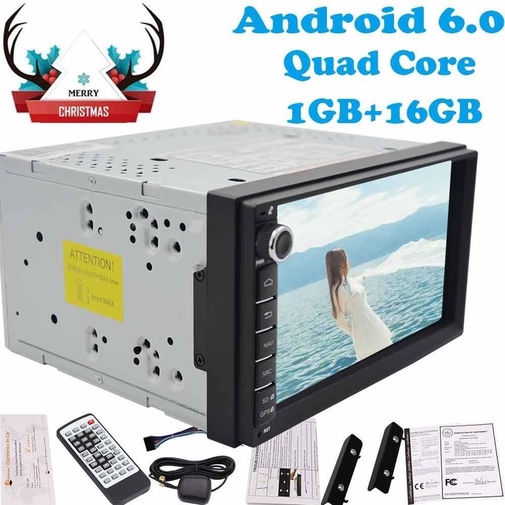 7'' Quad Core automagnitol Android 6.0 double din autoradio car radio auto tactics no dvd player car pc unit monitor mirror link