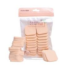 20 piezas duradero, uso en seco y mojado, polvo esponja de maquillaje, base de maquillaje, esponjas faciales cosméticas, soplo de polvo suave para BB Cream Blush