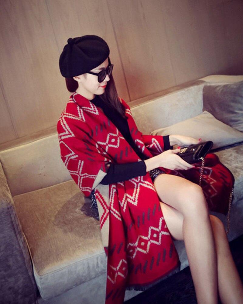68x195cm Plaid Winter Scarf Pashminas Wool Cashmere Super