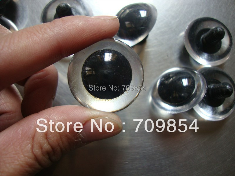 free shipping 100pcs lot 30mm Animal Clear ROUND eyes for PLUSH BEAR Toy findings