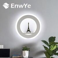 EnwYe LED Wall Lamps 17W AC110V 220V Modern Simple Bedroom Bedside Indoor Wall Lighting