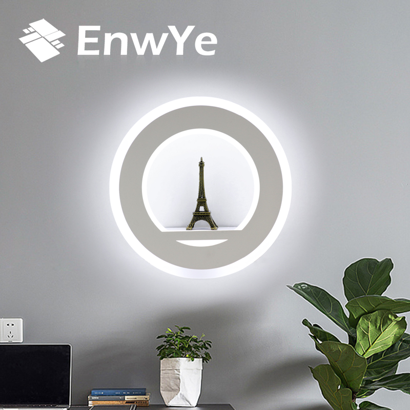 EnwYe LED lámparas de pared 17 W AC110V 220 V moderno Simple dormitorio iluminación de la pared interior