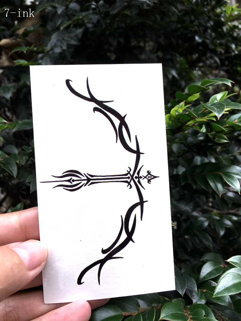 Transferência de água tatuagem falsa Arco e flecha totem tatoo tatto flash Do Tatuagem Temporária À Prova D' Água para adultos