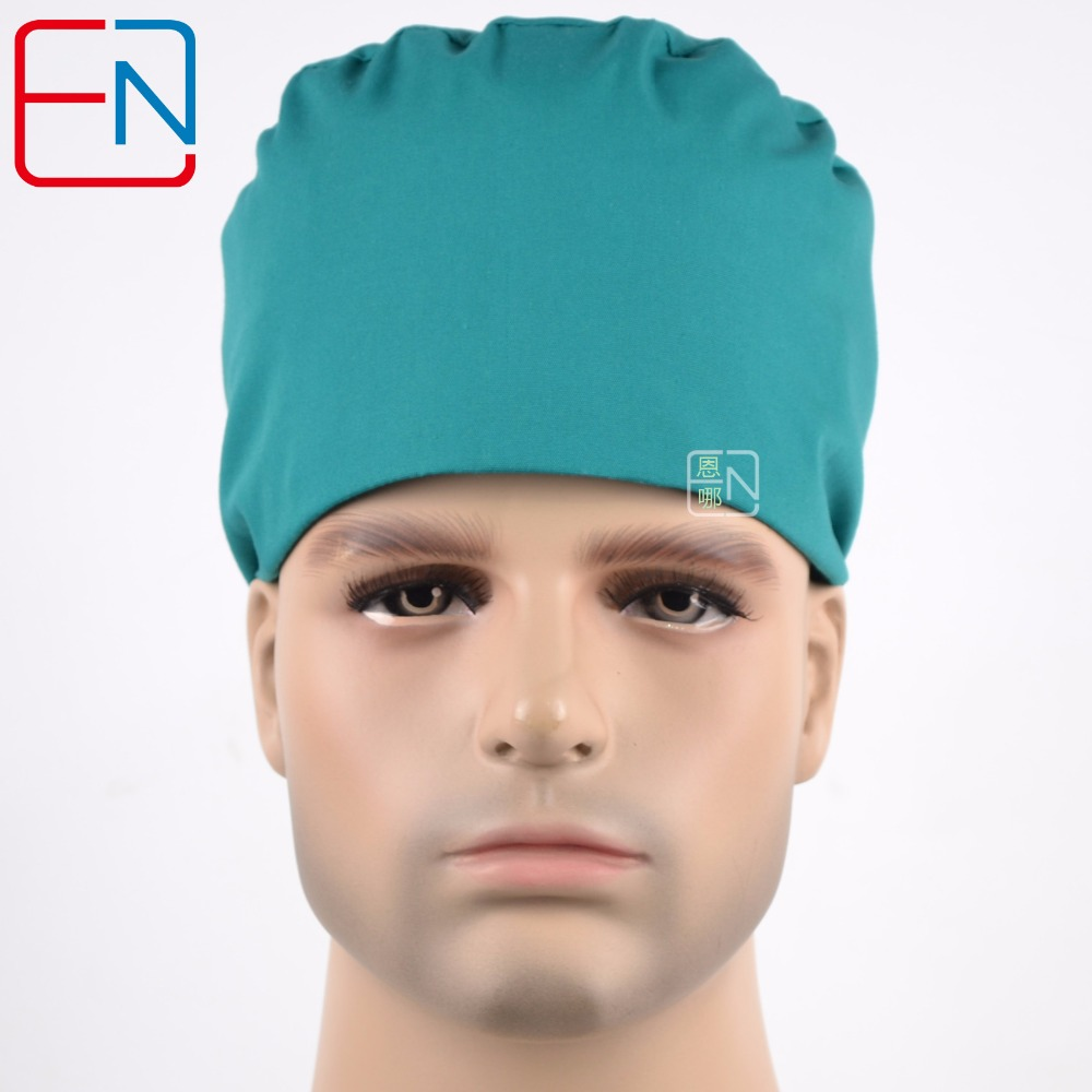 Hennar Surgical Caps In Bright Green T/C 3 Sizes For Choices
