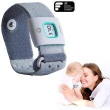 Детские/Дети интеллектуальные носимых электронный термометр Bluetooth смарт радионяня бытовой Термометр