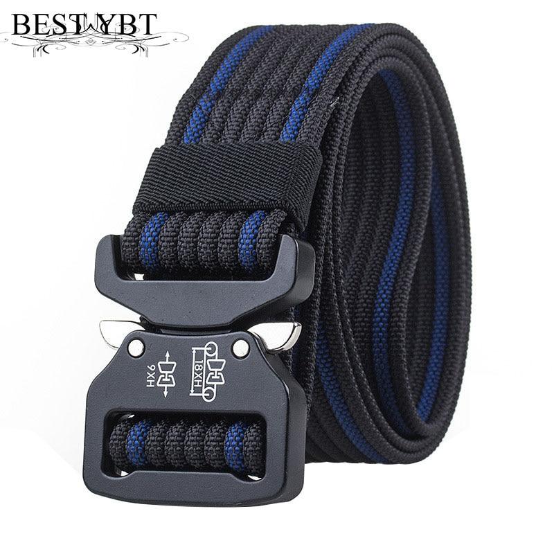 Best YBT Unisex belt new high quality Quick release Alloy Insert buckle Men belt outdoor casual sport Men and Women Nylon belt
