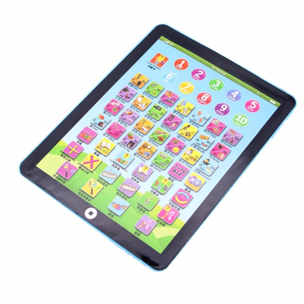 Divertente Modello di Tablet PC Touch Screen Tablet Macchina di Apprendimento Inglese Giocattoli Educativi Mini Macchina di Apprendimento Colori Casuali