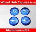 4x BLUE STAR 56.5 mm del centro de rueda tapacubos insignias del coche para Forester Impreza legado XV STI