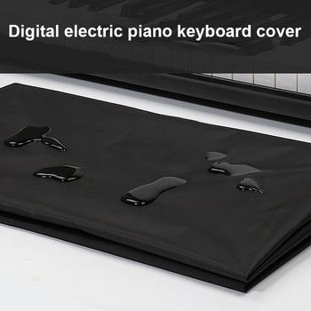 Seksowna czarna elektroniczna pianino cyfrowe osłona klawiatury pyłoszczelna składana wodoodporna narzuta na pianino dla 88 61 klawiszy fortepianu osłona przeciwpyłowa tanie i dobre opinie DUSTPROOFVEIL CN (pochodzenie) Piano Keyboard Cover Nowoczesne Poliester bawełna Piano Dust Cover Electronic Piano Dust Cover