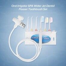 927290d9b Orais Irrigador SPA Jato de Água Flosser Dental Cuidados Com Os Dentes  escova de Dentes Família Define Haste-dental-fio dental E..