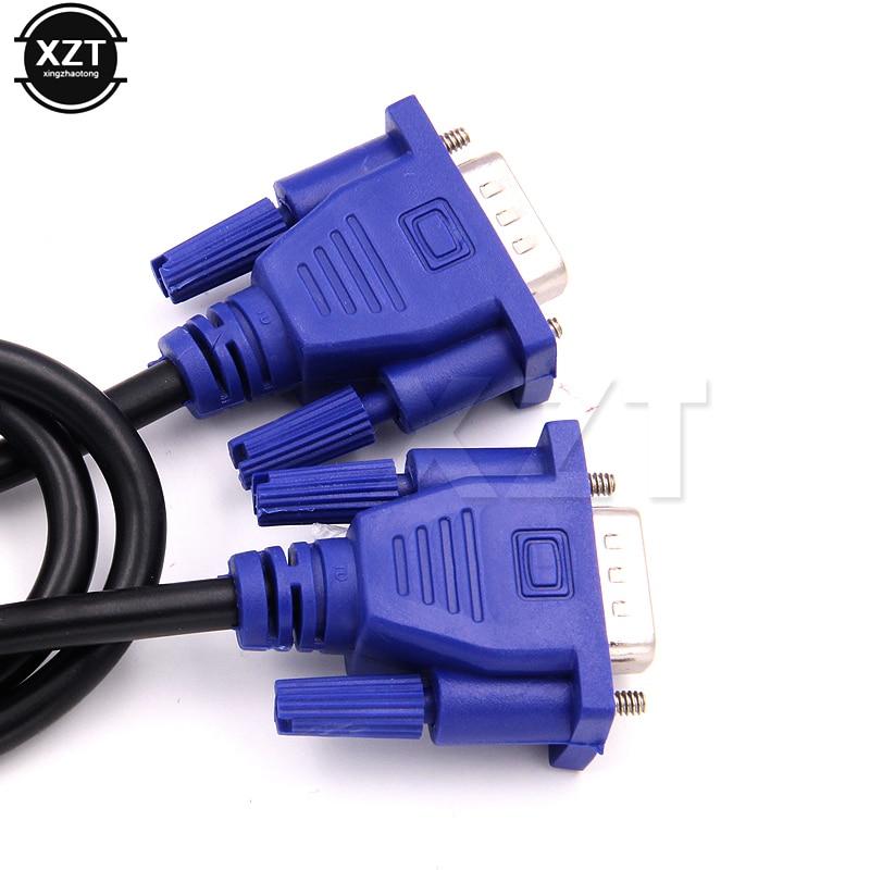Новинка, 1 шт., кабель VGA-VGA для монитора компьютера 1,3 м с коннектором HDB15 Male-HDB15 Male для ПК, преобразователь для ТВ-адаптера