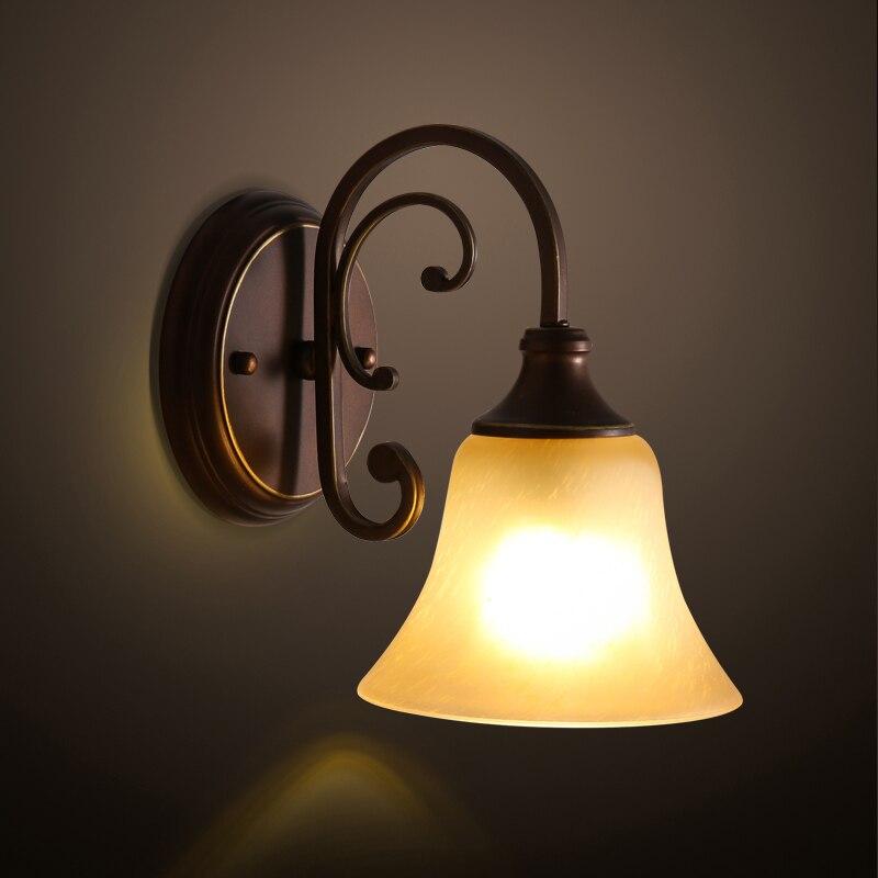 2018 Vente Chaude Lumière Abajur Lampe de Mur Américain Village Restaurant Couloir Balcon Hôtel Génie Bougie Lumières Livraison Gratuite