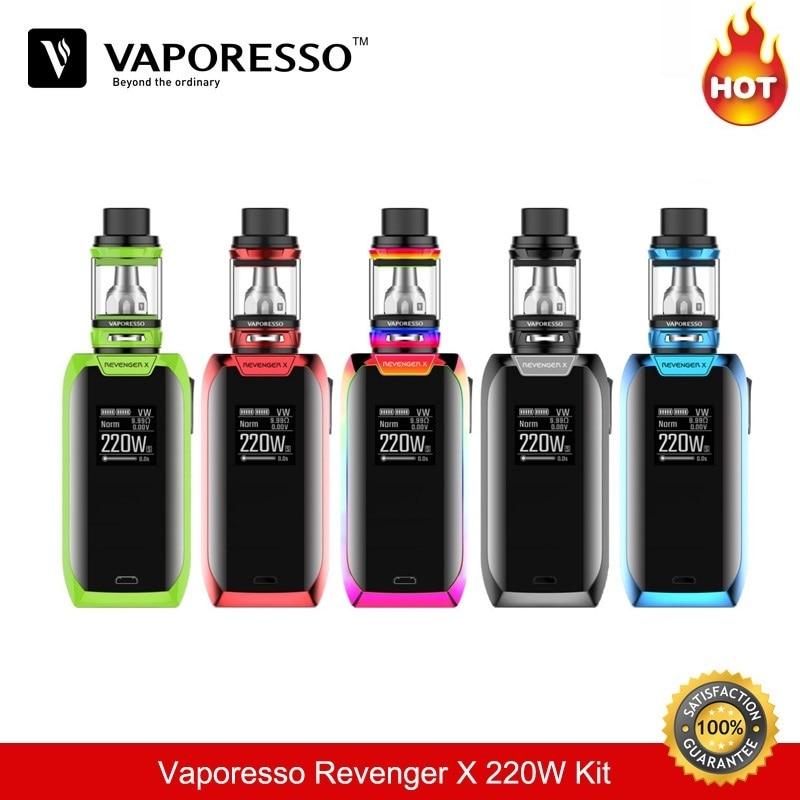 все цены на Vaporesso Electronic Cigarette Revenger X 220W TC Box Mod Box Mod Vape 5ML e Cigarette Tank Vaporizer Vaper Vapour Cigarette 510 онлайн