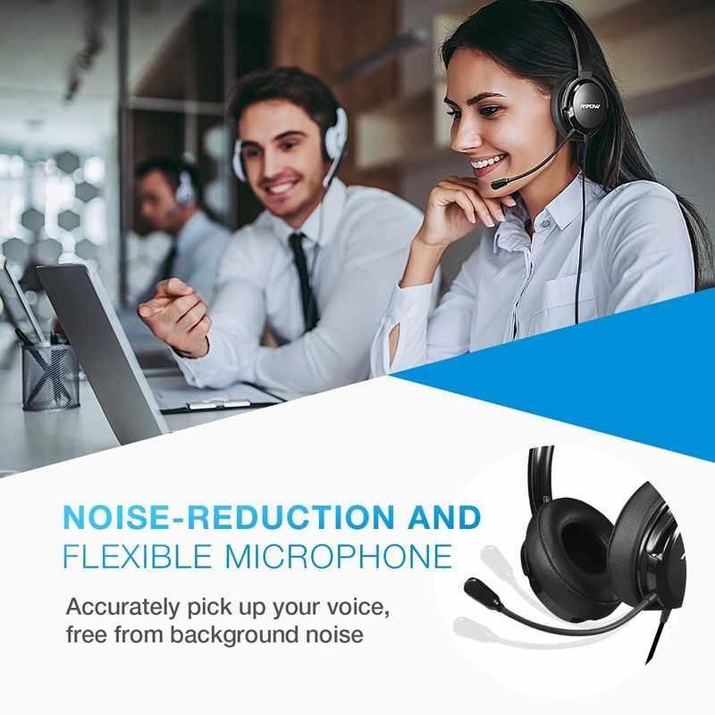 Mpow 218 Stereo Tai Nghe Có Dây Nâng Cấp Tai Nghe USB & 3.5mm Kép Ổ Cắm Noise Noise Cancelling Tai Nghe Với Tinh Thể Rõ Ràng Mic đối với Lái Xe