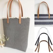 2Pcs Bag Belt Detachable PU Handle Shoulder DIY Replacement Accessories Belts Leather White Black 60CM Harejuke Bags